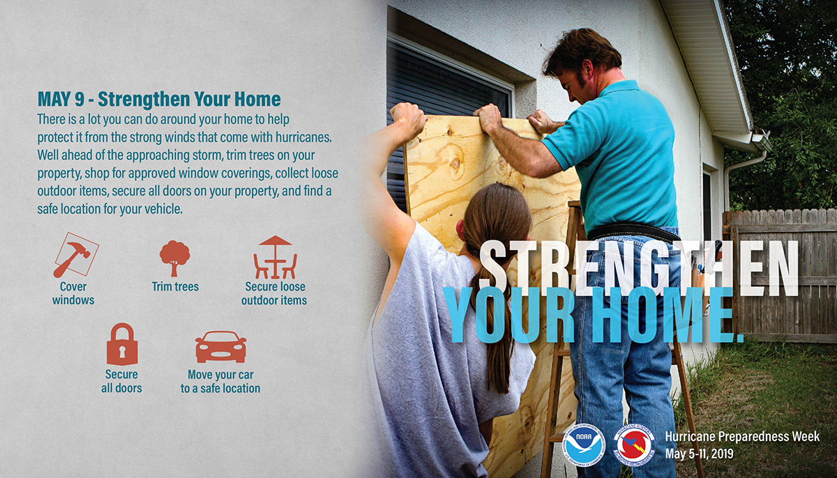 May 9, Strengthen Your Home. There is a lot you can do around your home to help protect it from the strong winds that come with hurricanes. Well ahead of the approaching storm. trim trees on your property, shop for approves window coverings, collect loose outdoor items, secure all doors on your property, and find a safe location for your vehicle.