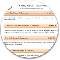 SPLOST VII Proposed List of County Projects