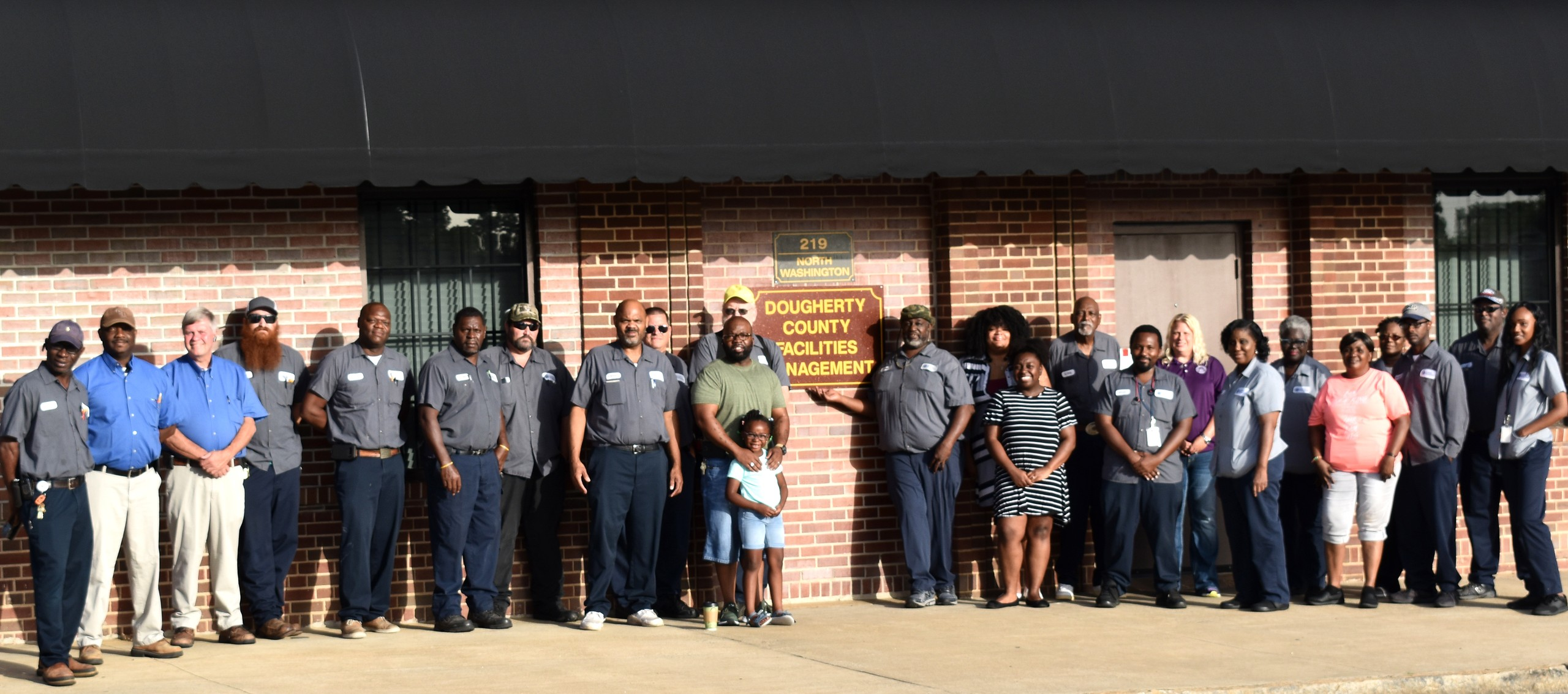 Dougherty County Facilities Management Team Group Picture of Staff
