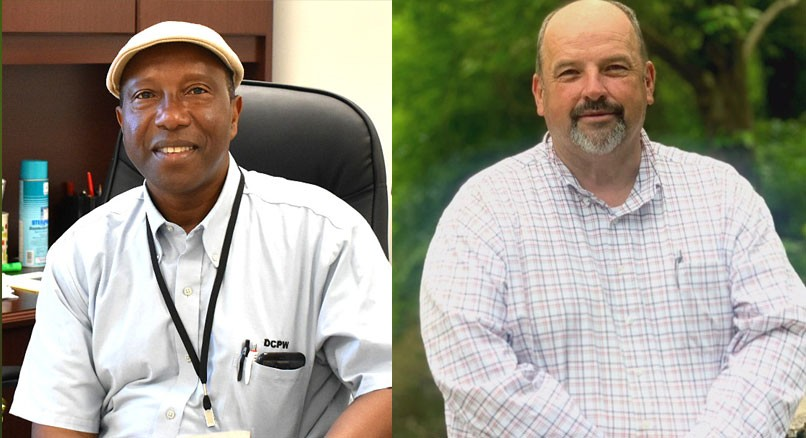 """Chuck """"Chucky"""" Mathis, new Director of Dougherty County Public Works; and Michael Sistrunk, new Assistant Director of Dougherty County Public Works"""