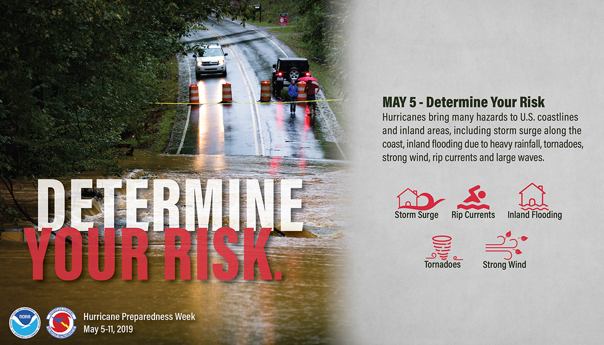 May 5, Determine your risk. Hurricanes bring many hazards including storm surge along the coast, inland flooding due to heavy rainfall, tornadoes, strong wind, rip currents and large waves.