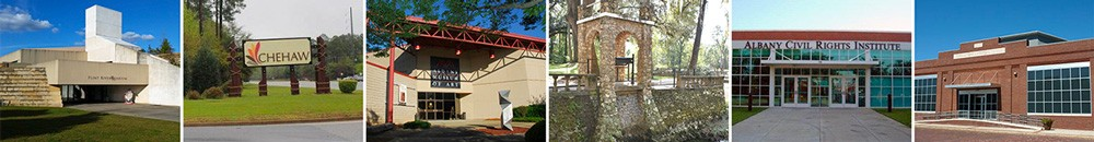 Collage of local parks and museums